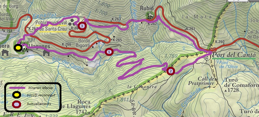 Mapa Marxa Vall de Siarb 2018